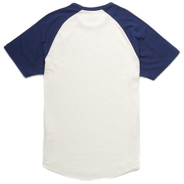 """DEUS EX MACHINA Shirt - """"Ringer Raglan Tee"""" - creme & blau"""
