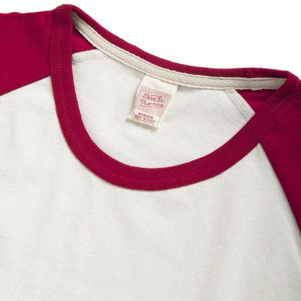 """DEUS EX MACHINA Shirt - """"Ringer Raglan Tee"""" - creme & rot"""